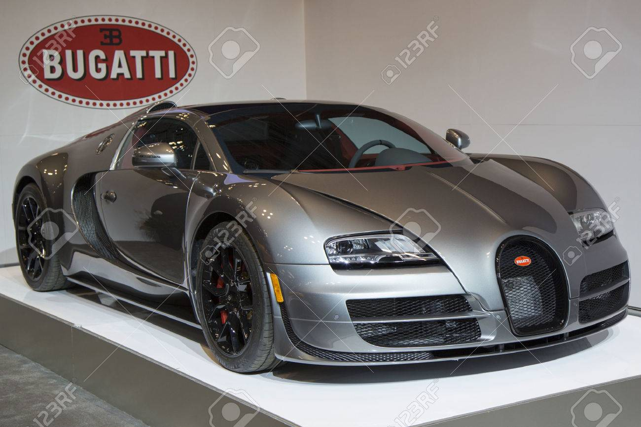 NEW YORK   APRIL 24: Bugatti Veyron 16.4 Luxury Sport Car On Display In New