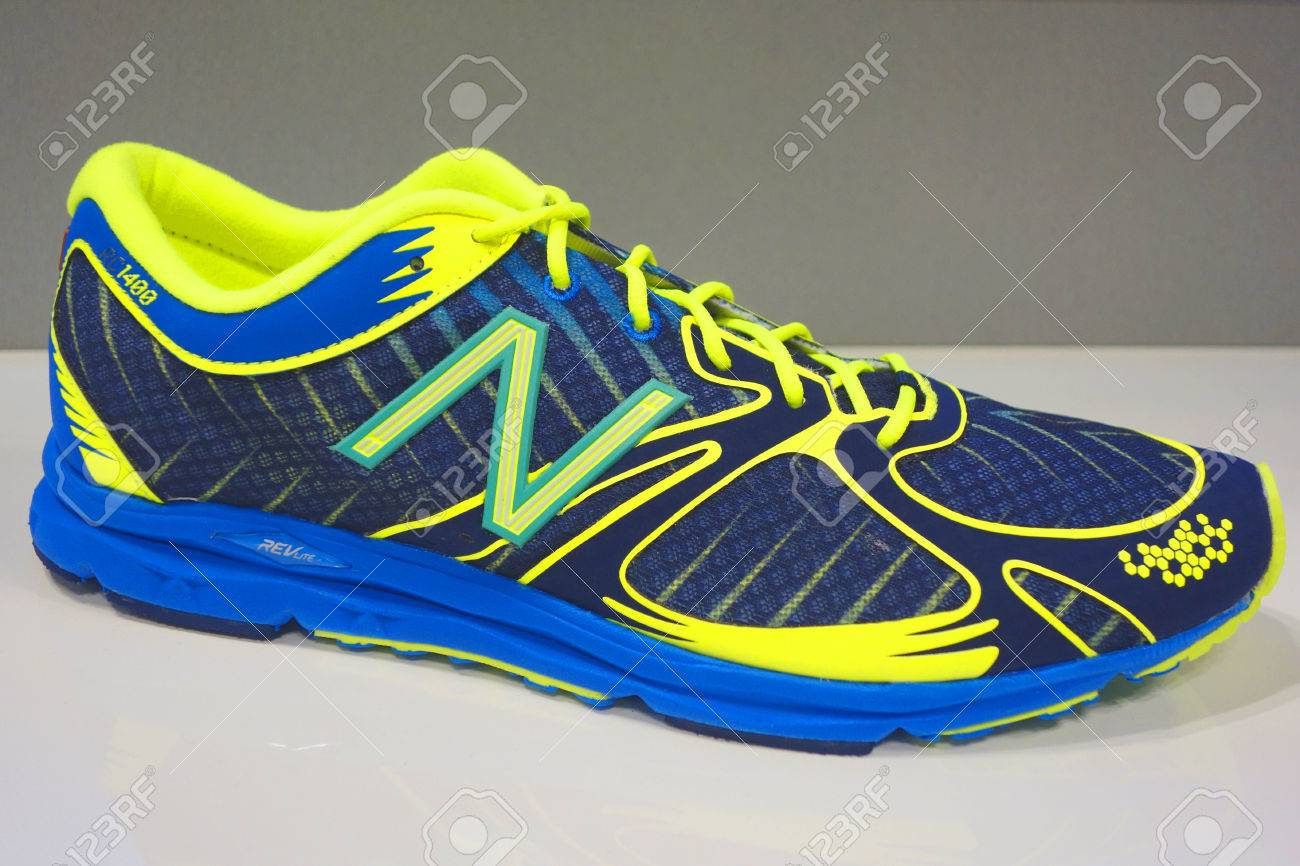 NEW YORK OCTOBER 30: New Balance running shoe presented before..