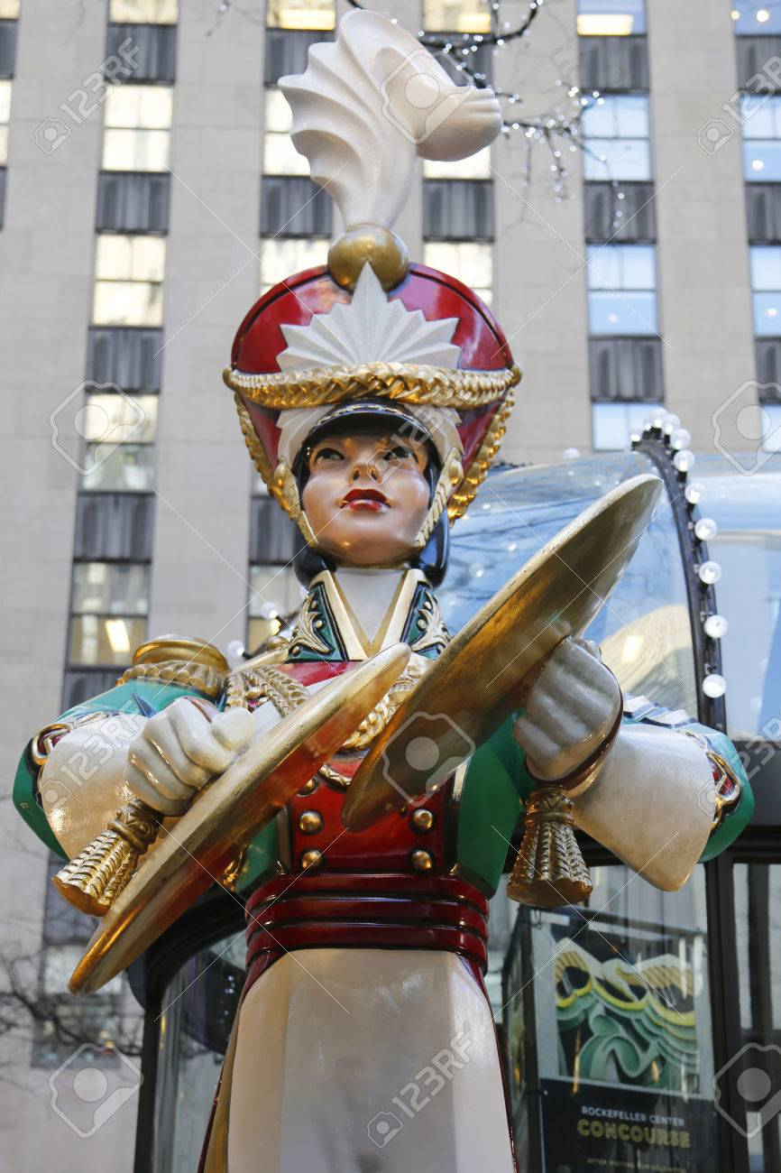 new york city december 18 wooden soldier crash cymbals christmas decoration at the rockefeller - Christmas Decorations Wooden Soldiers