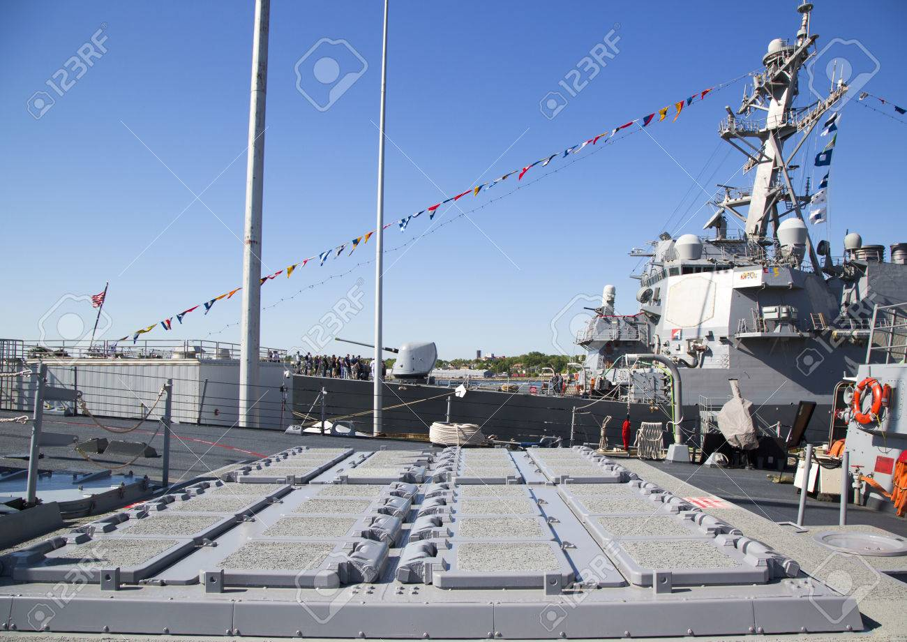 NEW YORK - MAY 25, 2014: 90-cell Vertical Launching System for
