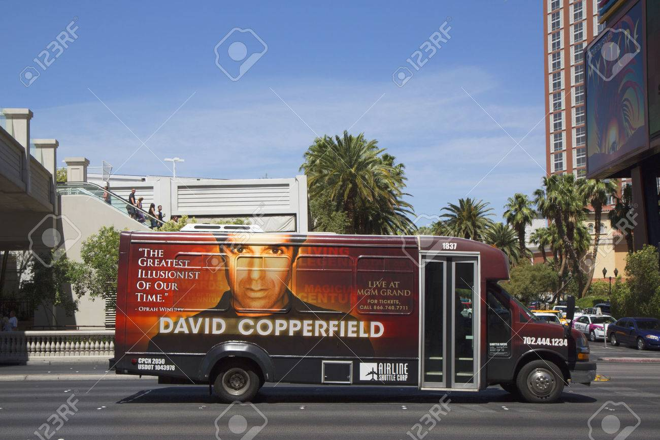 las vegas nevada airline shuttle bus david las vegas nevada 10 2014 airline shuttle bus david copperfield