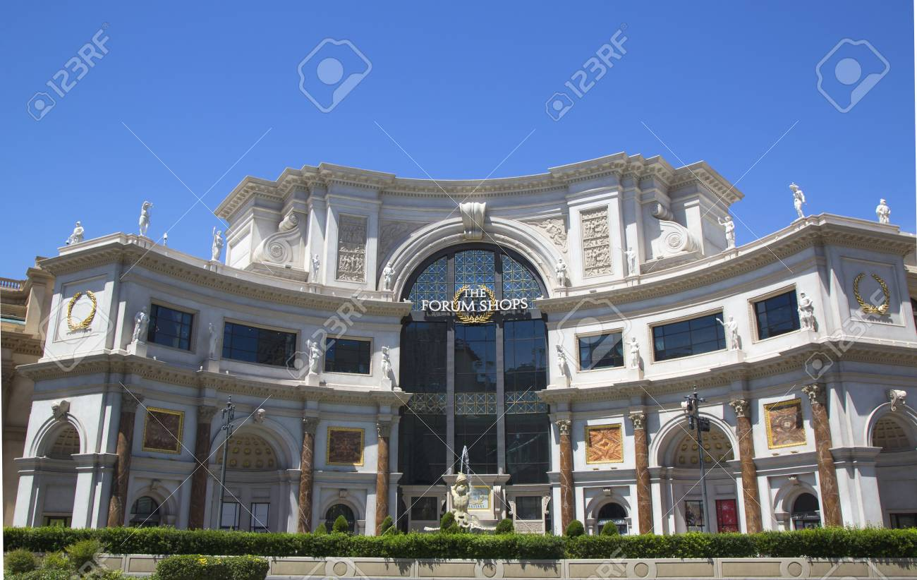 LAS VEGAS, NEVADA - MAY 10, 2014: Entrance to The Forum Shops