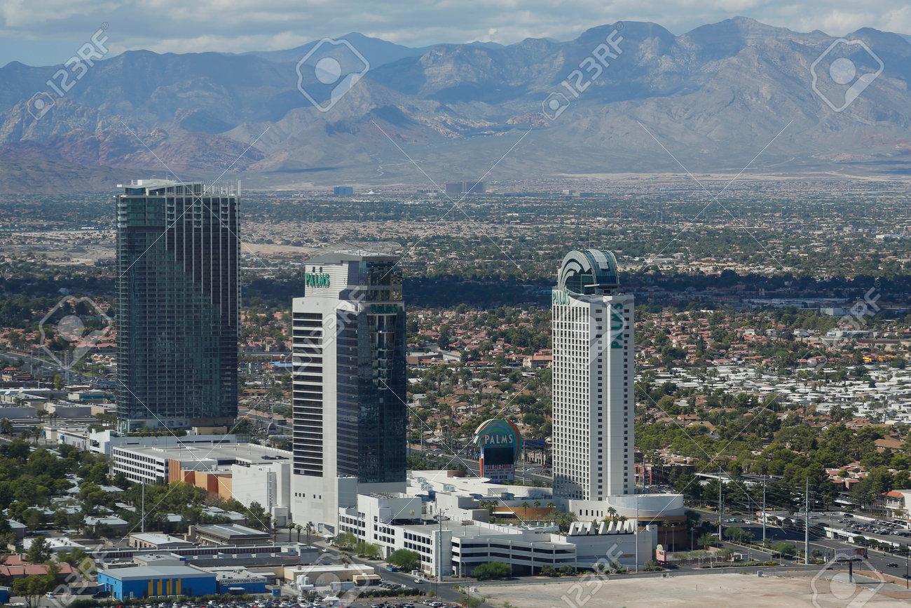 Las Vegas September 25 2014 Aerial View Of The Palms Casino