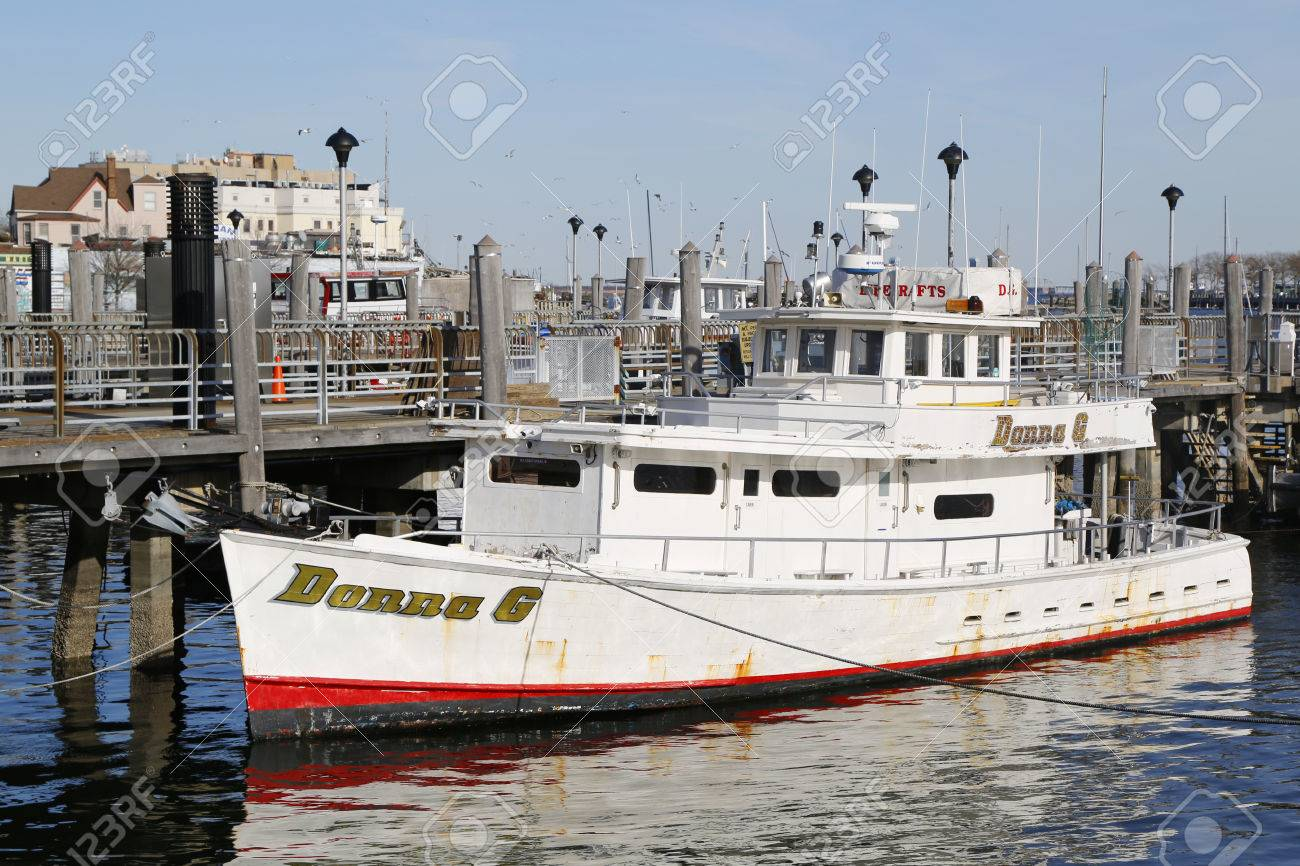 BROOKLYN, NEW YORK - MARCH 19, 2015: Fishing boat charter on