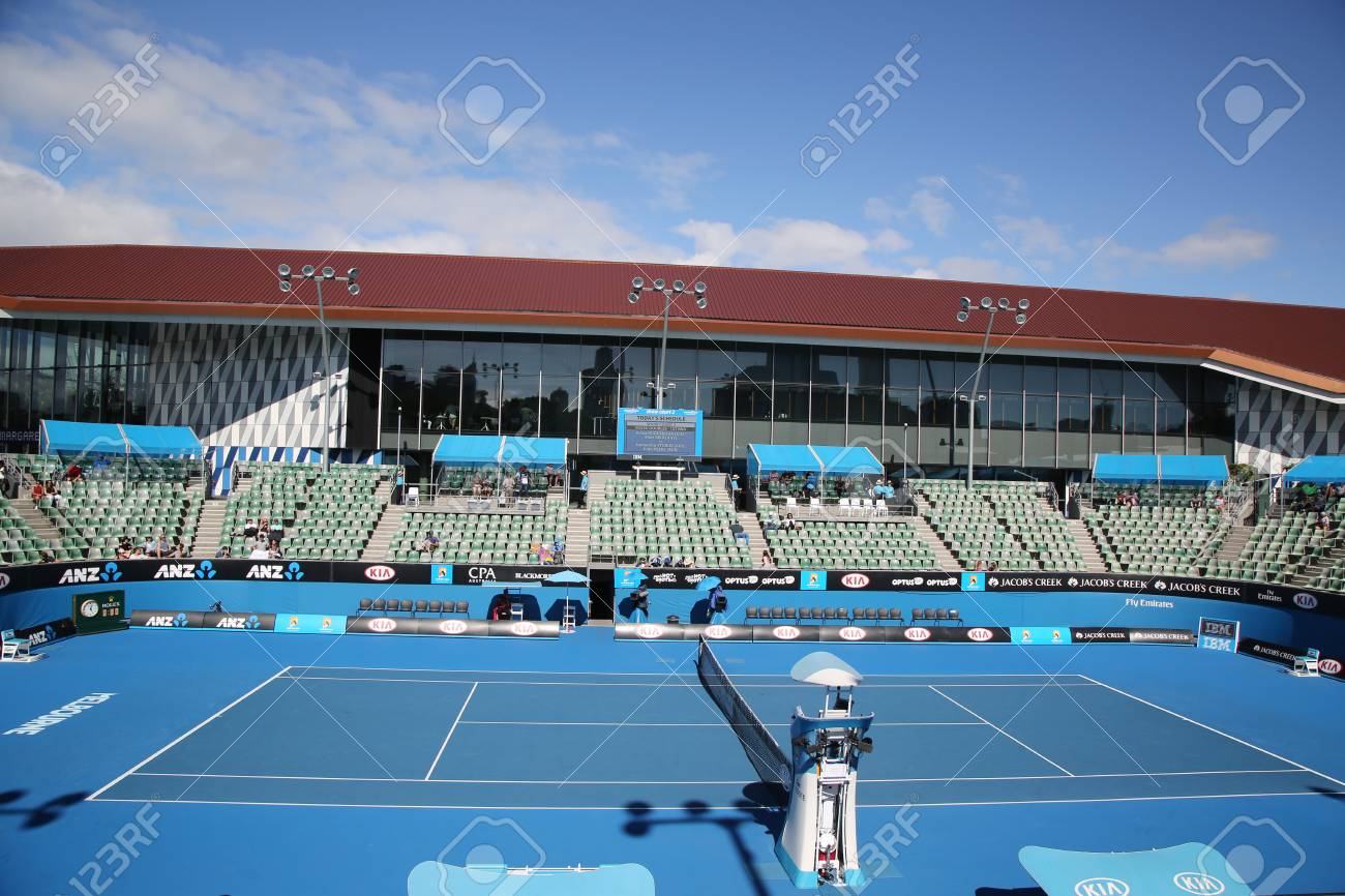 Melbourne Australia January 25 2016 Show Court 2 During Stock