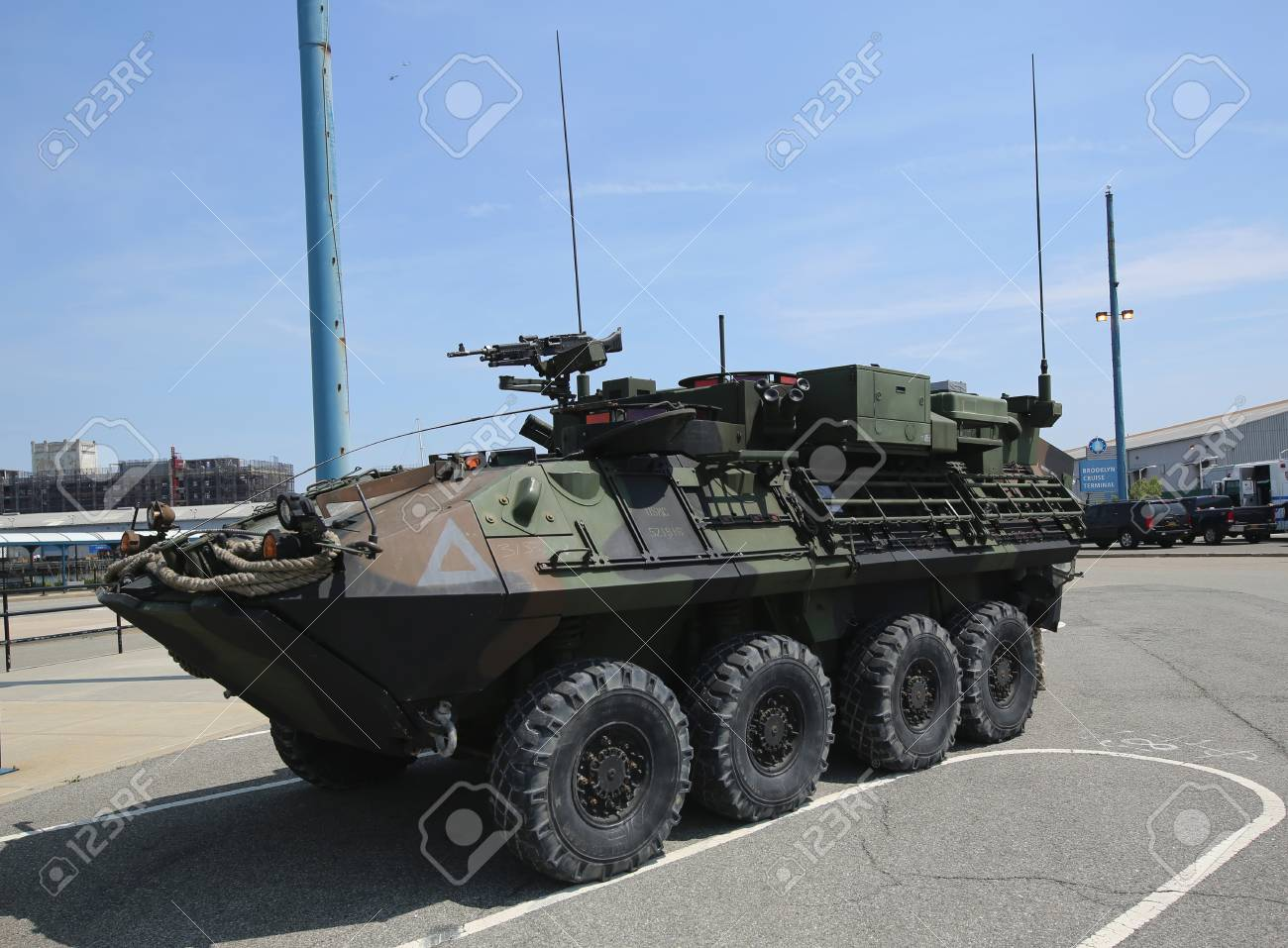 NEW YORK   MAY 26, 2016: Light Armored Vehicle Command And Control (