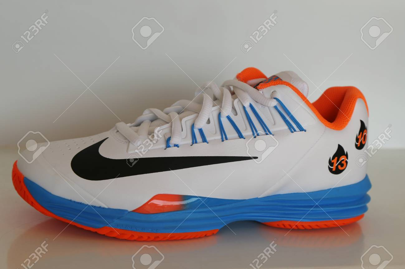 best service 49857 120a0 NEW YORK - AUGUST 27, 2016  Nike presents new tennis shoes NikeCourt Lunar  Ballistec