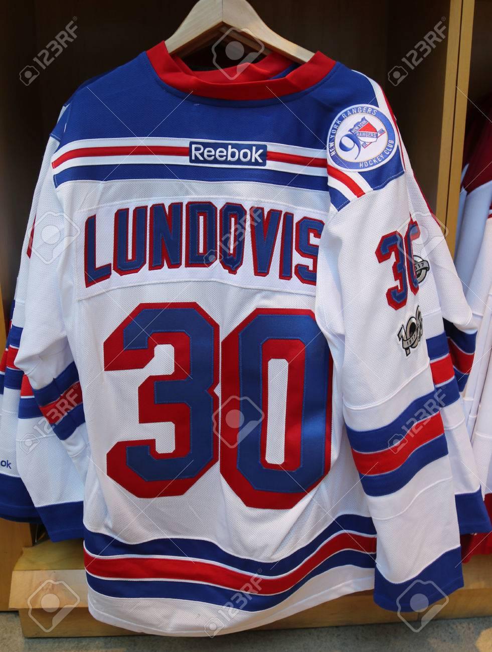rangers lundqvist jersey