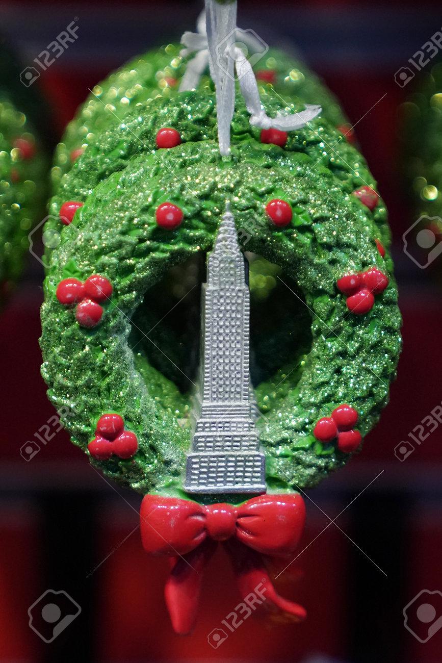 NEW YORK - DECEMBER 19, 2017: New York City Themed Christmas.. Stock ...