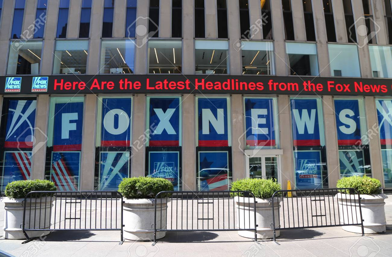 NEW YORK - APRIL 26, 2018: Fox News Channel At The News ...