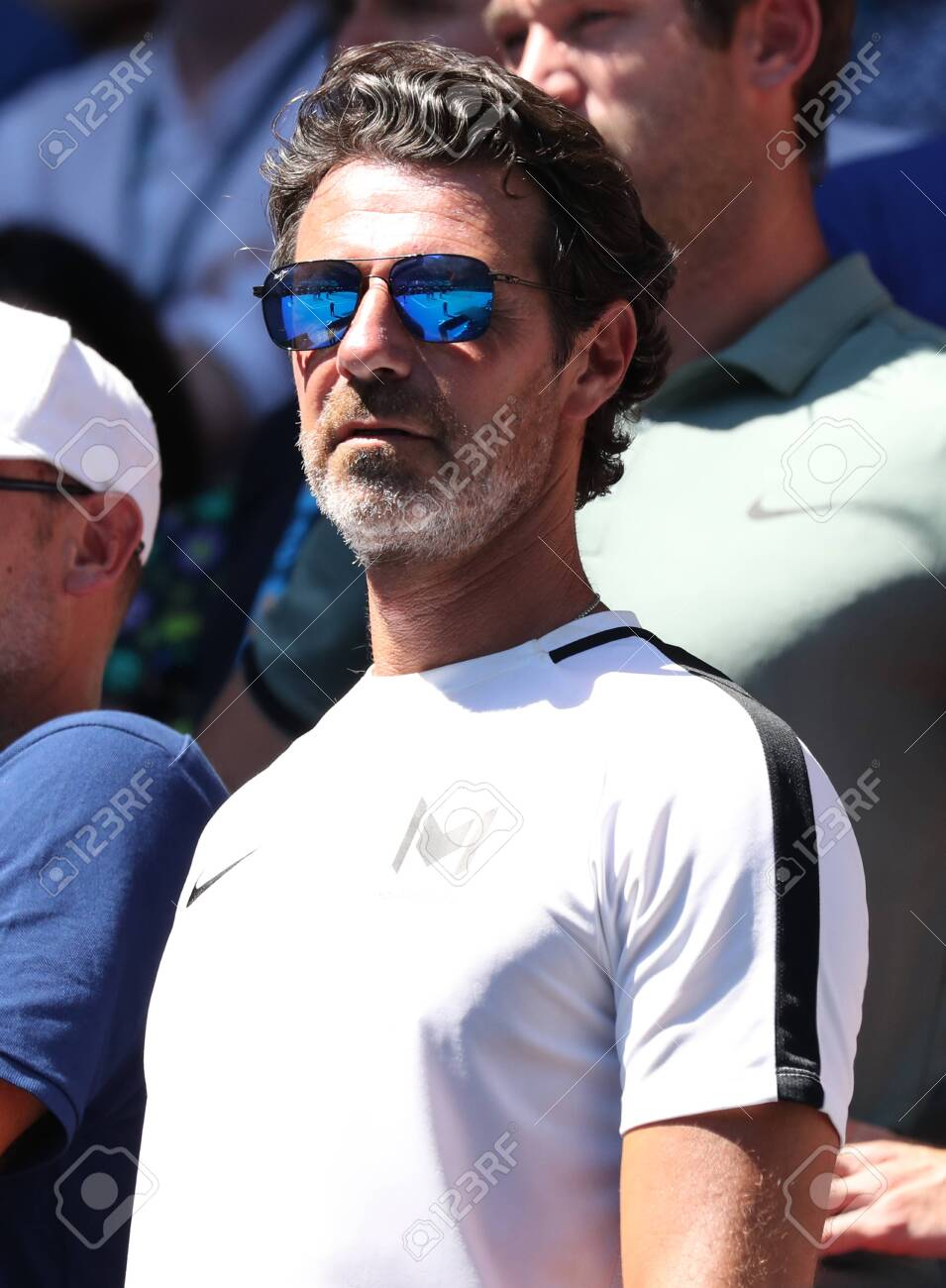Melbourne Australia January 21 2019 Coach Patrick Mouratoglou Stock Photo Picture And Royalty Free Image Image 122072921
