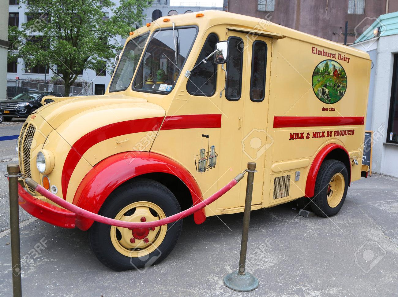 BROOKLYN, NEW YORK - MAY 2, 2019: Vintage Elmhurst Dairy DIVCO