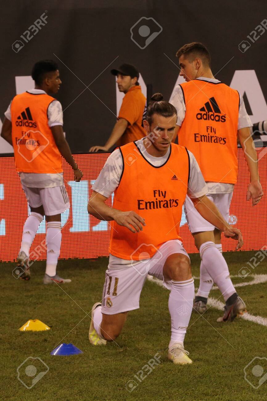 sports shoes 7d580 8646c EAST RUTHERFORD, NJ - JULY 26, 2019: Gareth Bale of Real Madrid..