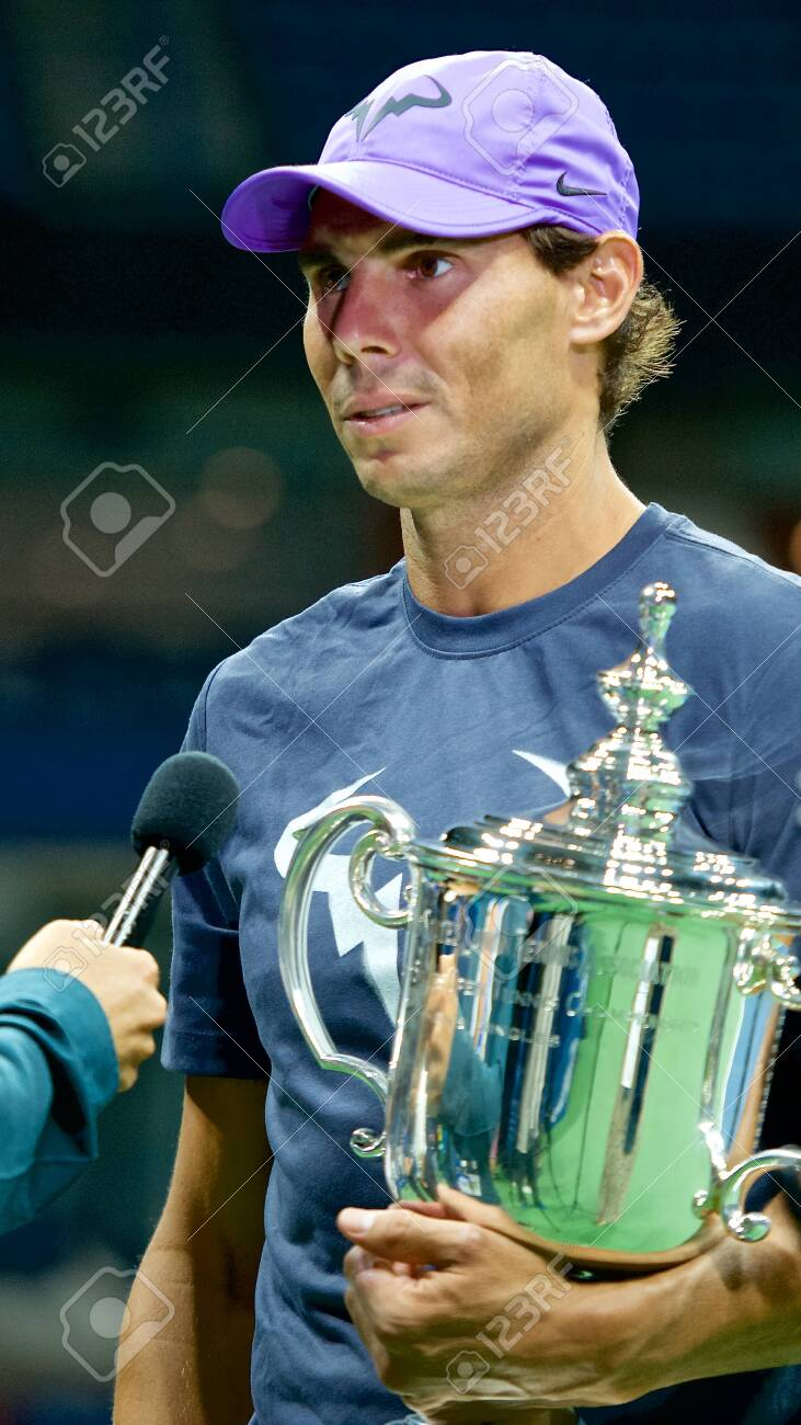 New York September 8 2019 2019 Us Open Champion Rafael Nadal Stock Photo Picture And Royalty Free Image Image 130137998