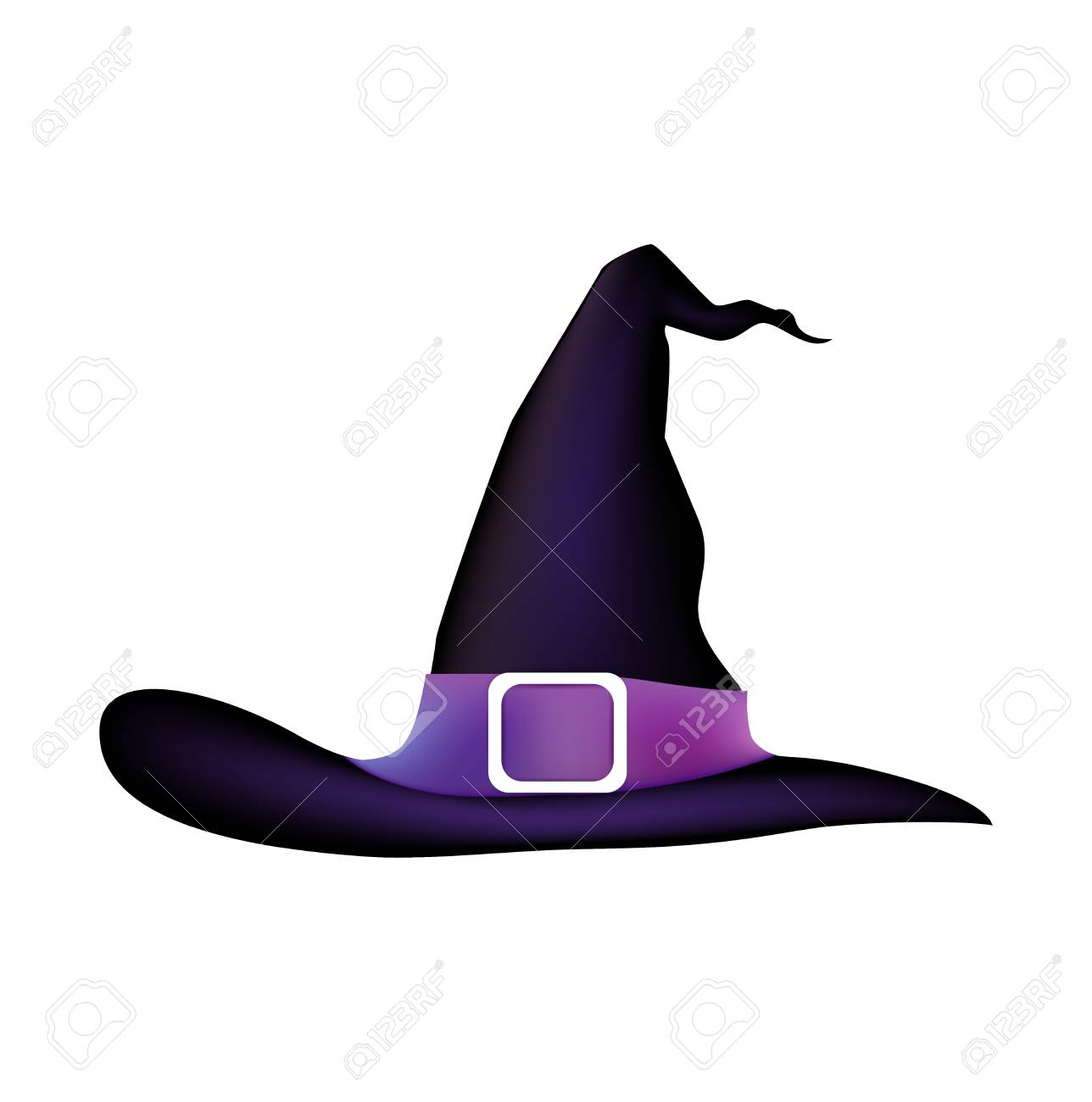 Cartoon Halloween Witch Hat Royalty Free Cliparts Vectors And Stock Illustration Image 117547256