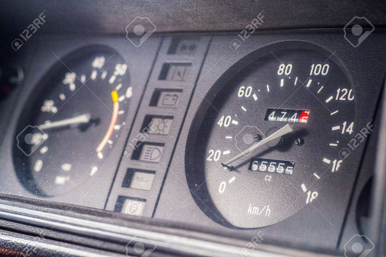 instrument panel in the car - 60458437
