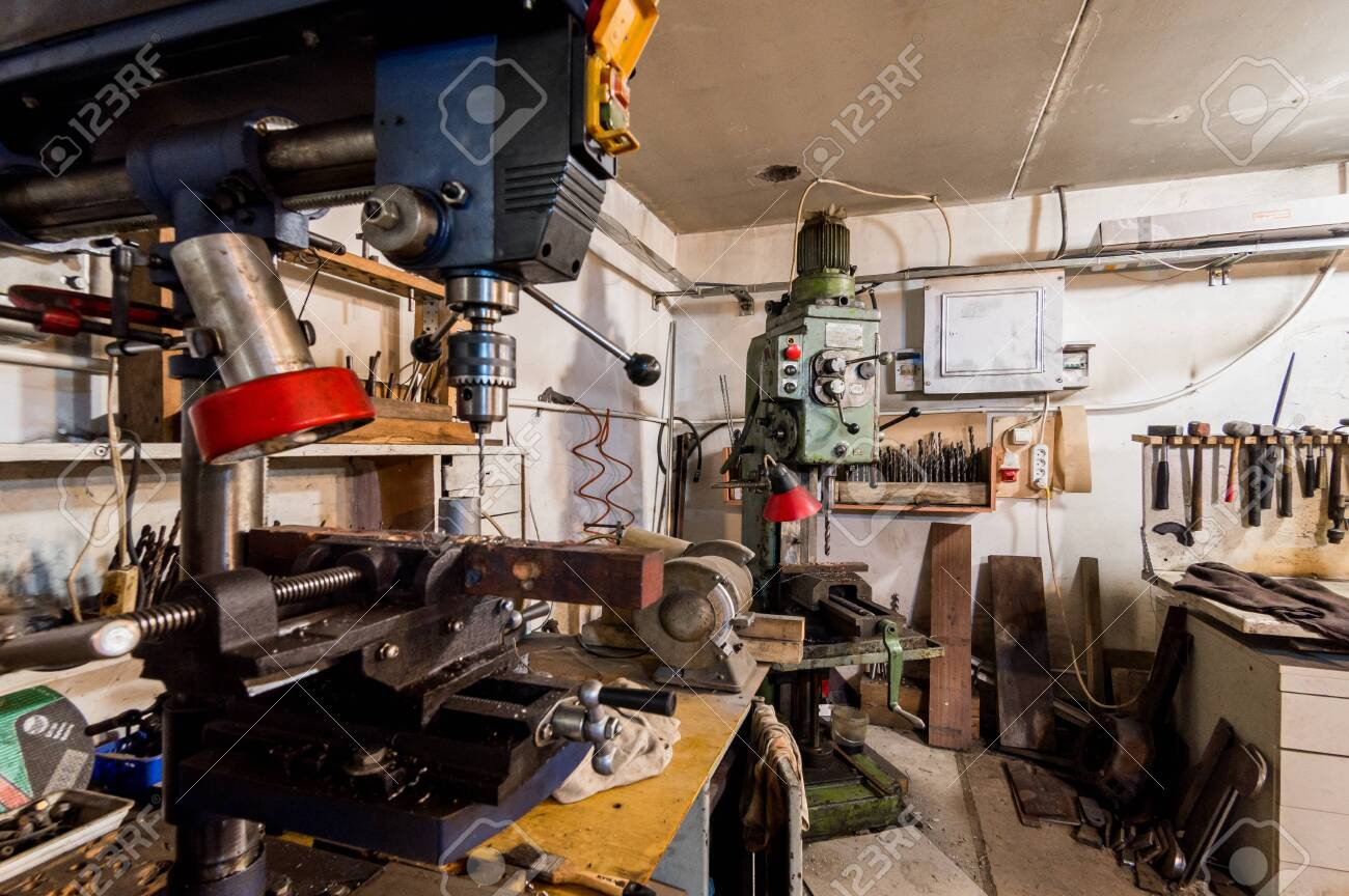 Russia Moscow July 06 2019 Interior Machines In Garage Workshop Stock Photo Picture And Royalty Free Image Image 138481675