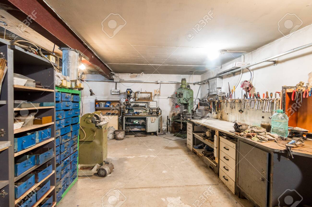 Russia Moscow July 06 2019 Interior Machine Tool In Garage Stock Photo Picture And Royalty Free Image Image 138481688