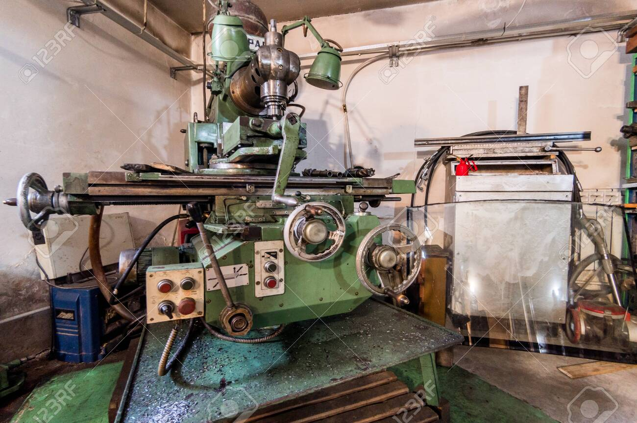Russia Moscow July 06 2019 Interior Machines In Garage Workshop Stock Photo Picture And Royalty Free Image Image 138481720