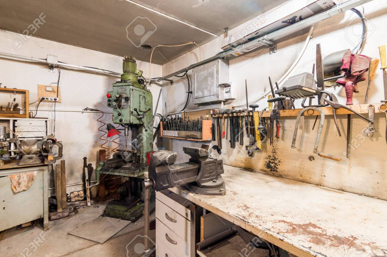 Russia Moscow July 06 2019 Interior Machines In Garage Workshop Stock Photo Picture And Royalty Free Image Image 138481573