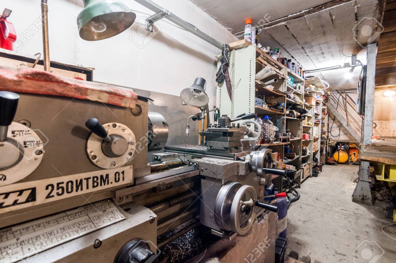 Russia Moscow July 06 2019 Interior Machines In Garage Workshop Stock Photo Picture And Royalty Free Image Image 138481737