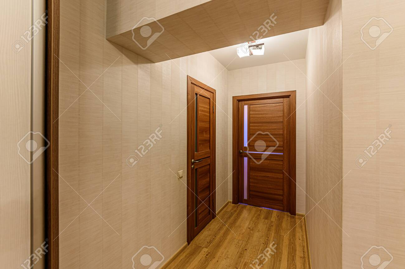 Russia, Moscow- February 07, 2020: interior room apartment modern bright cozy atmosphere. general cleaning, home decoration, preparation of house for sale - 152628297
