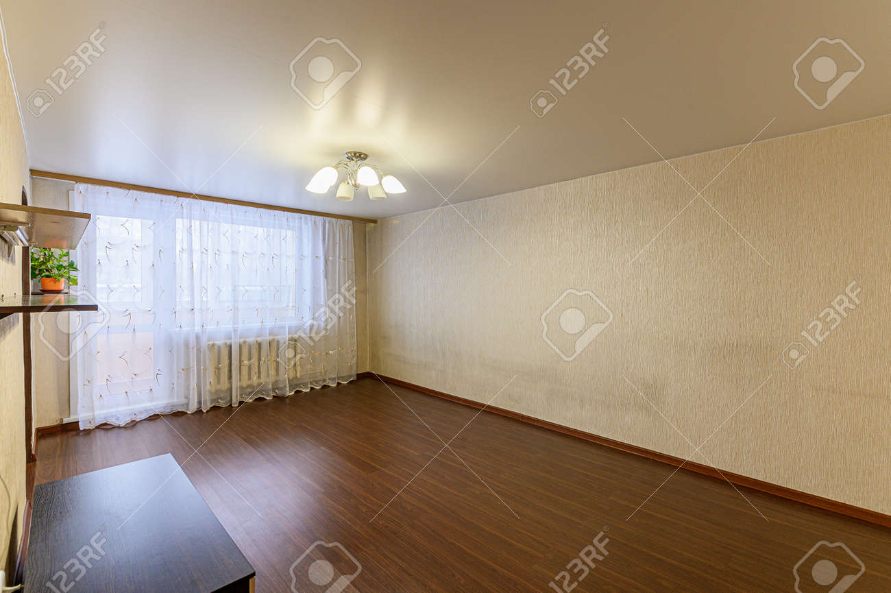 Russia, Moscow- February 07, 2020: interior room apartment modern bright cozy atmosphere. general cleaning, home decoration, preparation of house for sale - 152628261