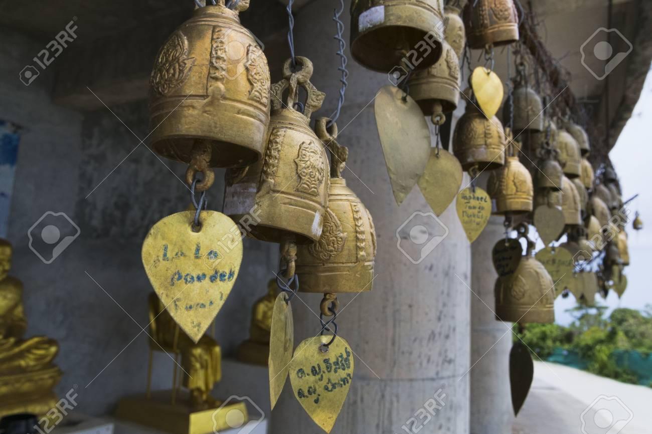 Thailand, Phuket, April 20, 2015, bells to scare away evil spirits