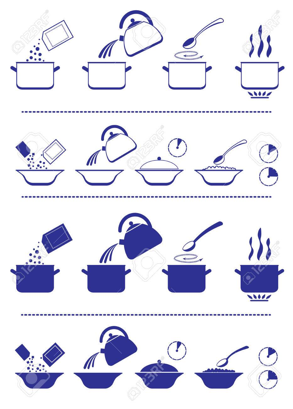 Infographic for manuals on a packing. - 53155746