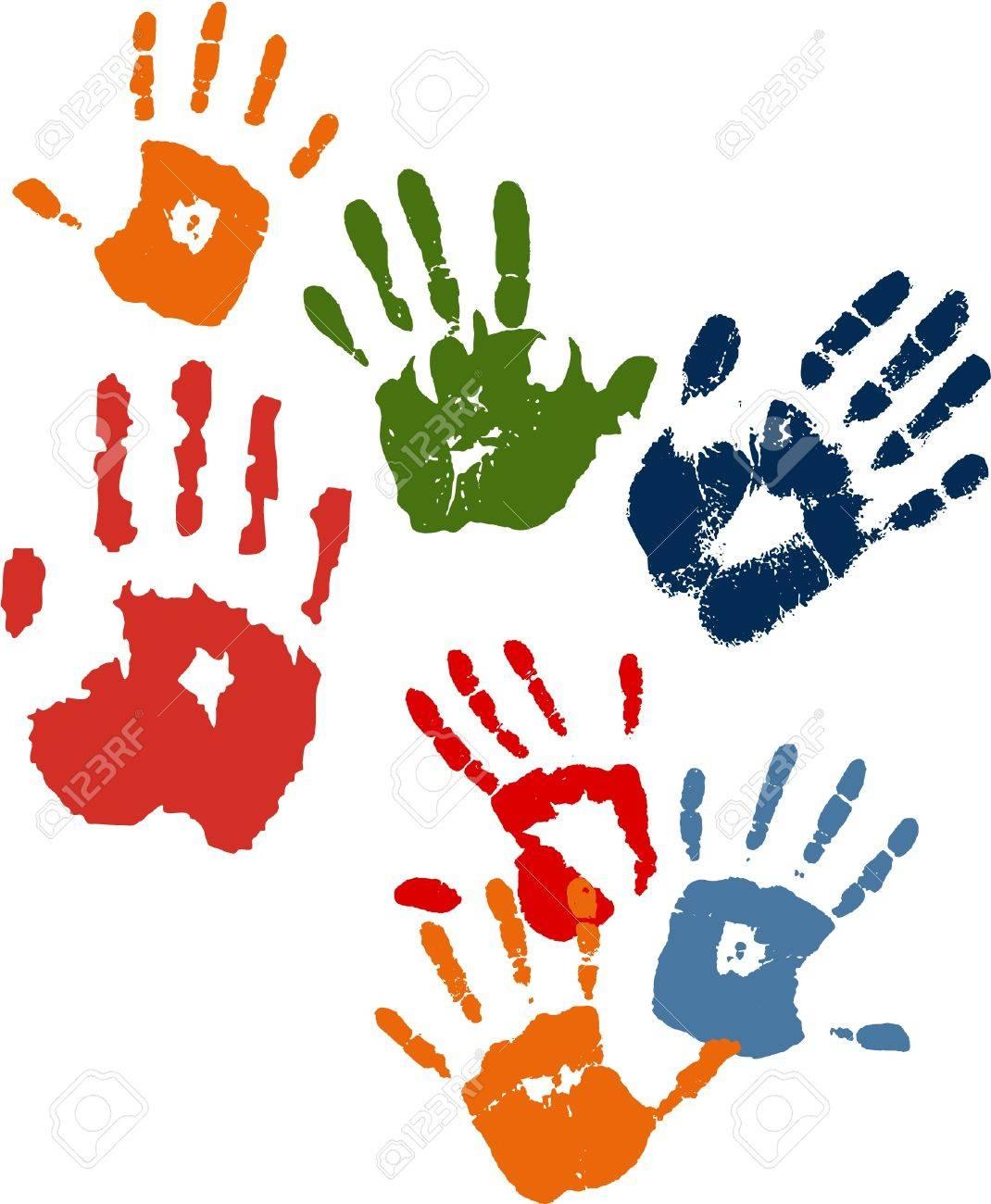 Hands stamps Stock Vector - 16335026