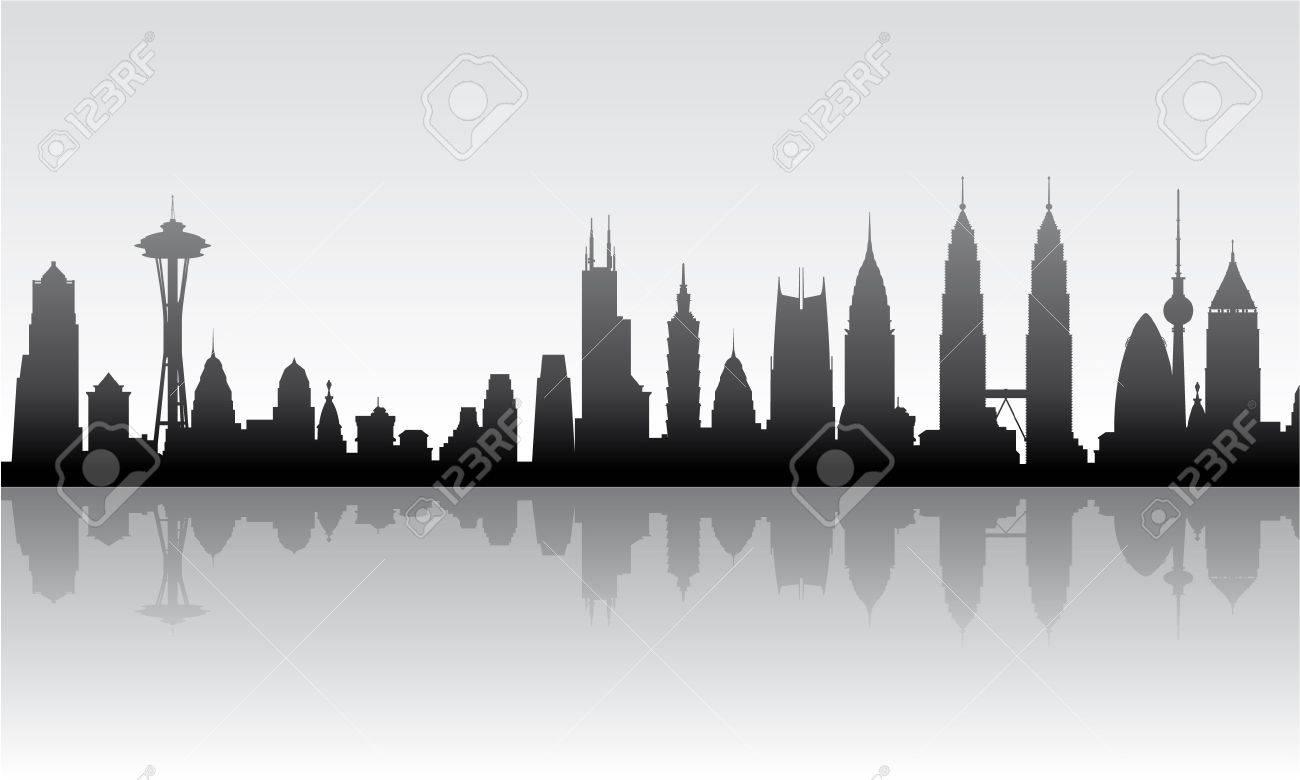 Cityscape vector background Stock Vector - 17906532