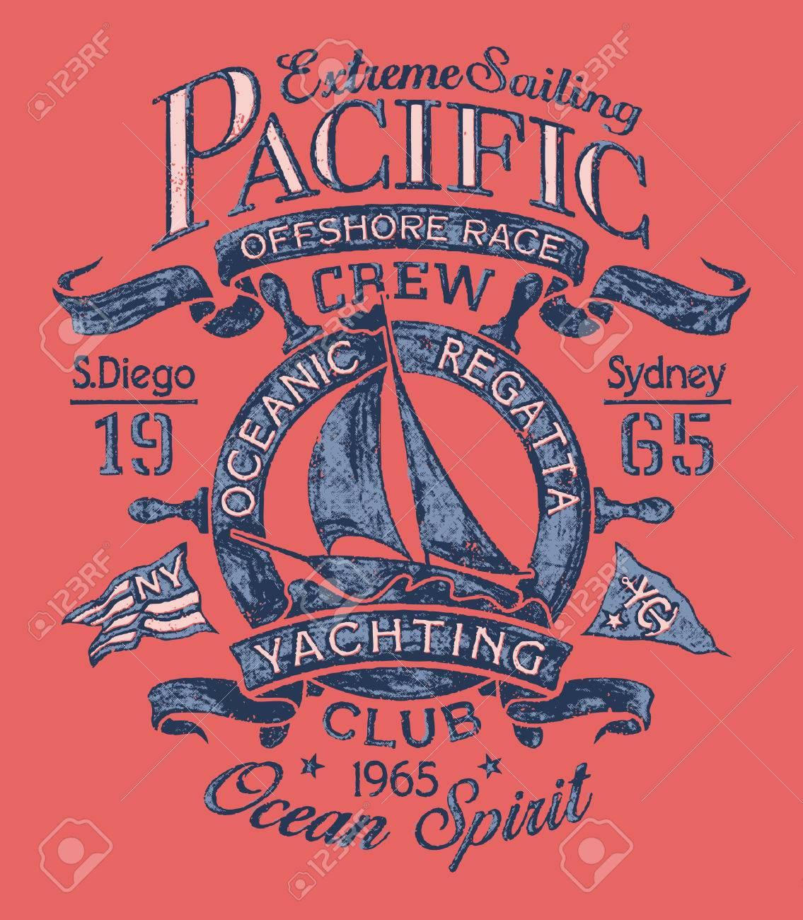 Extreme Sailing Regatta Vector Artwork For T Shirt Print In