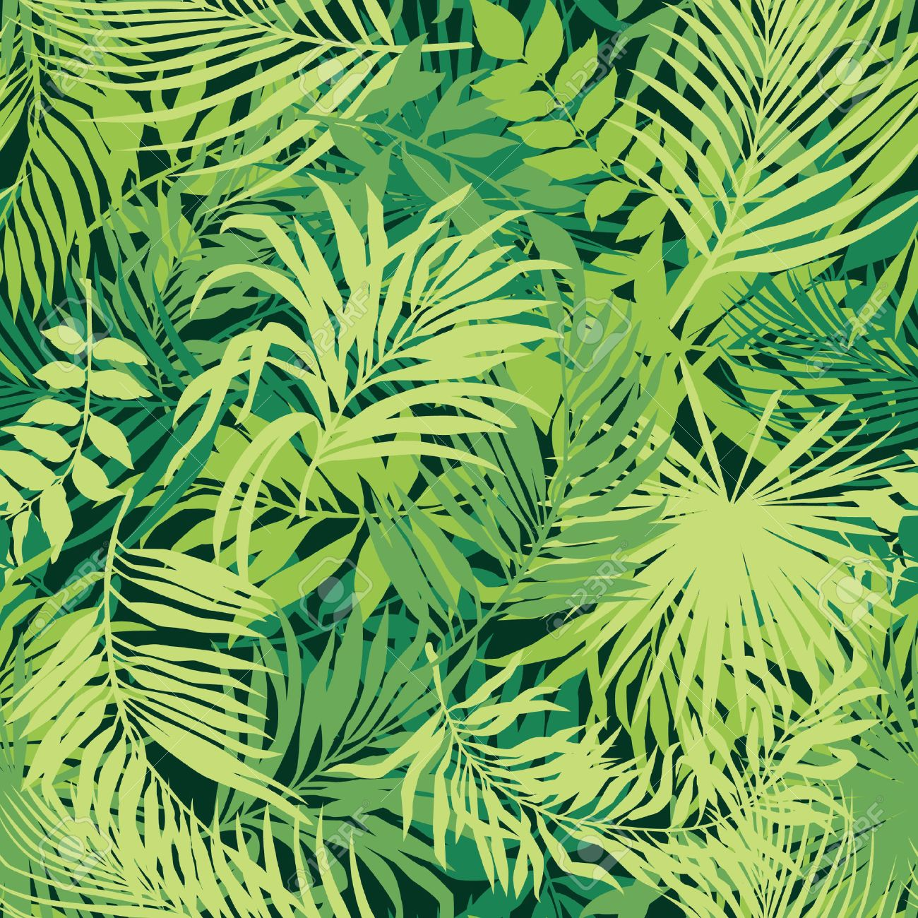 Jungle Background Vector Art Graphics