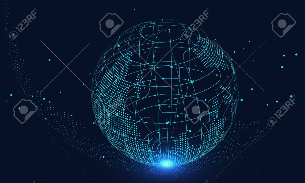 Artificial intelligence and future technology background, internet connection, science and technology background - 120250316