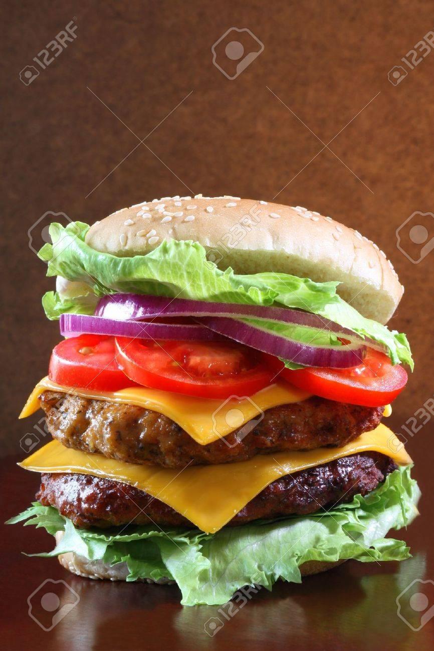Delicious double cheeseburger Stock Photo - 12457253