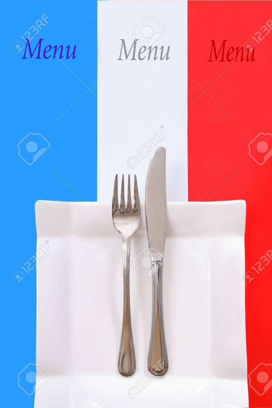 In stile francese menù ristorante, cucina francese