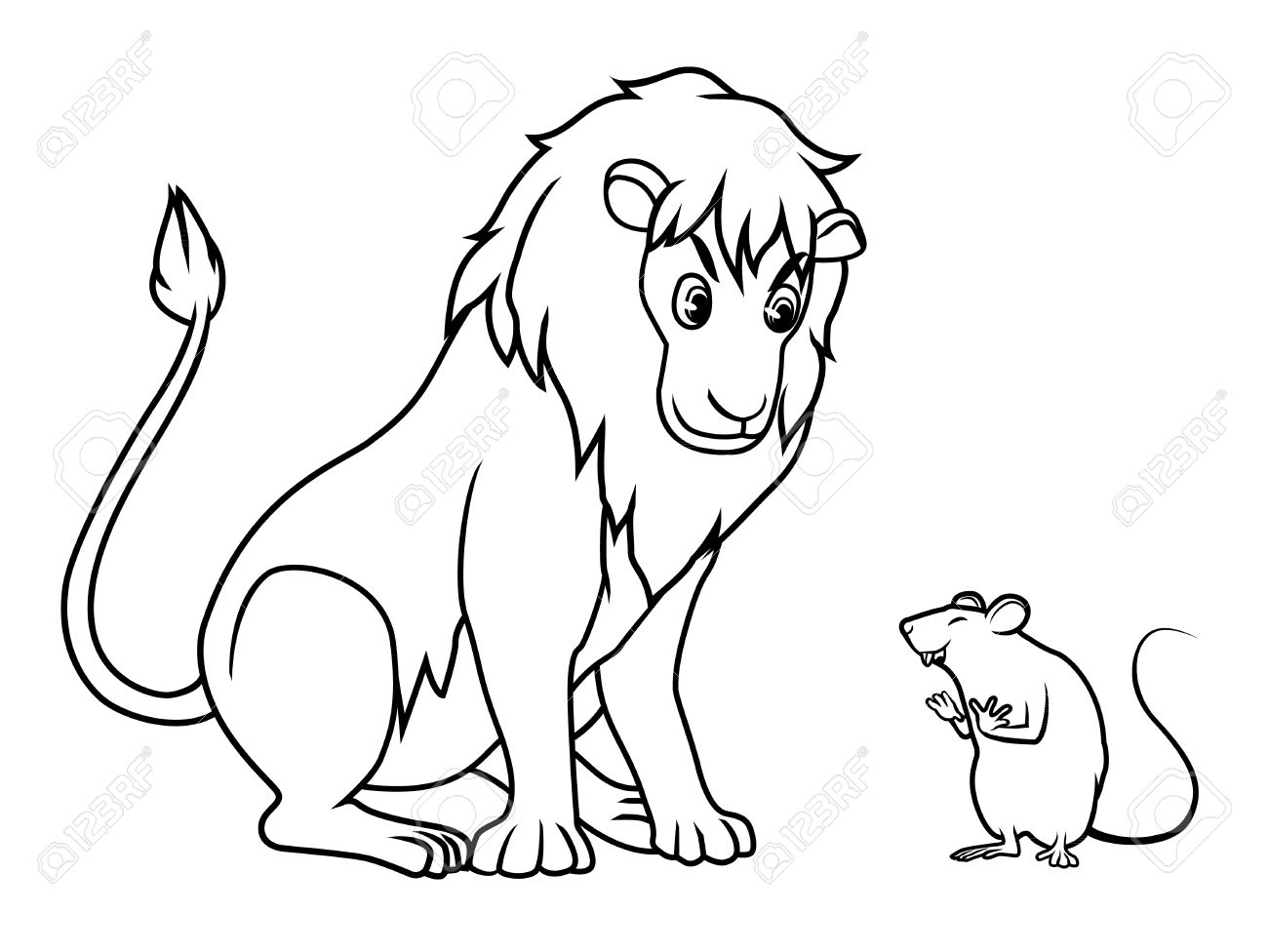 Uncategorized How To Draw A Cartoon Rat lion and rat drawing cartoon vector royalty free cliparts vectors stock 54417143