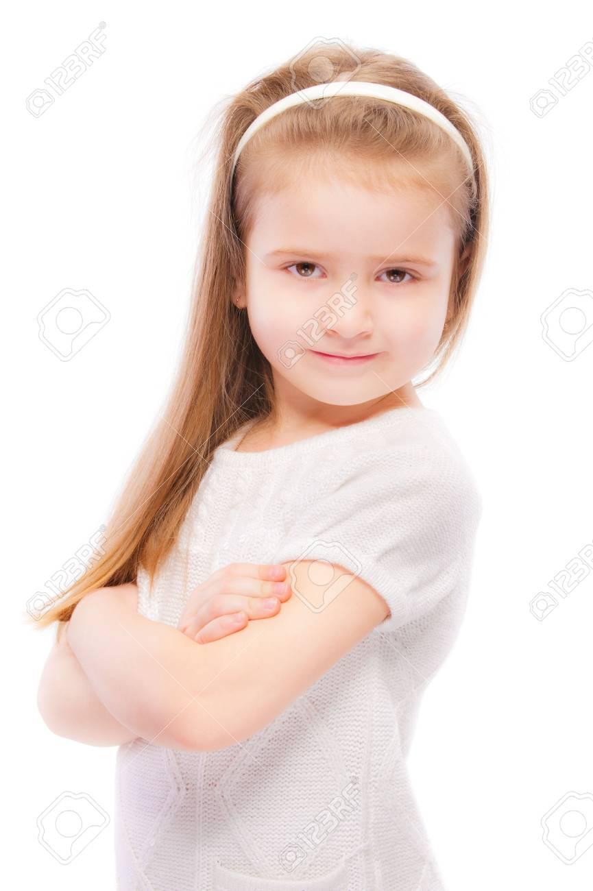 Portrait of beautiful preschool child, isolated on white background. Stock Photo - 6780051