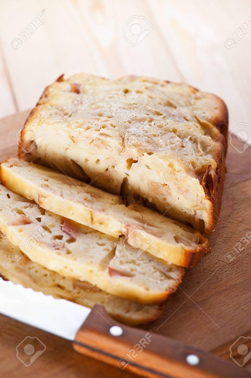 freshly baked charlotte closeup sliced muffin slices, near sharp