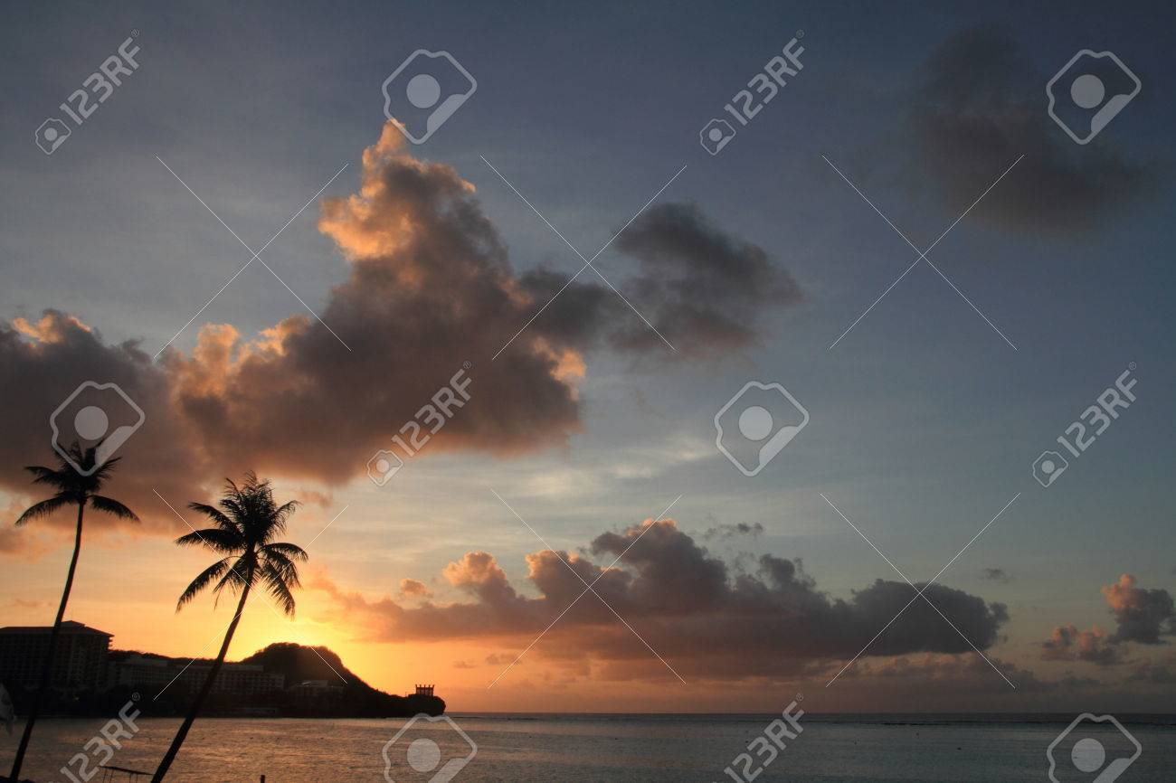 Sunset in Tumon Beach, Guam - 32216110