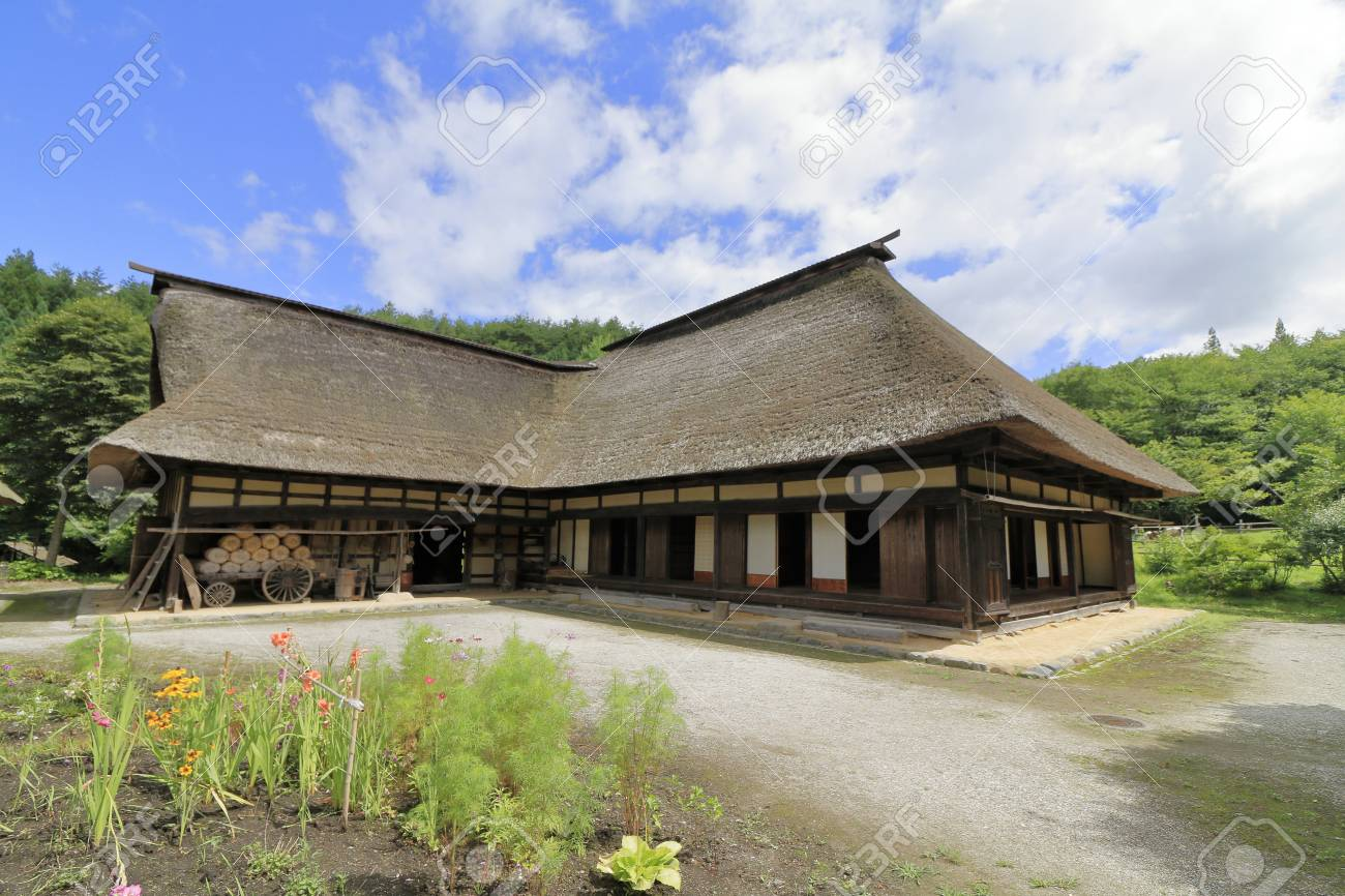 L shaped Japanese house in Tono, Iwate, Japan - 110106898