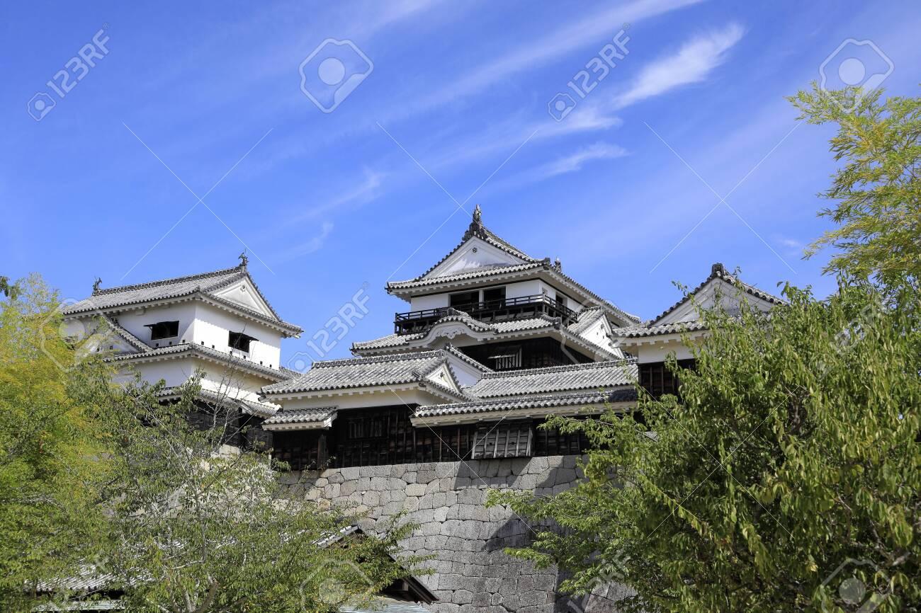 castle keep of Matsuyama castle in Ehime, Japan - 133097151