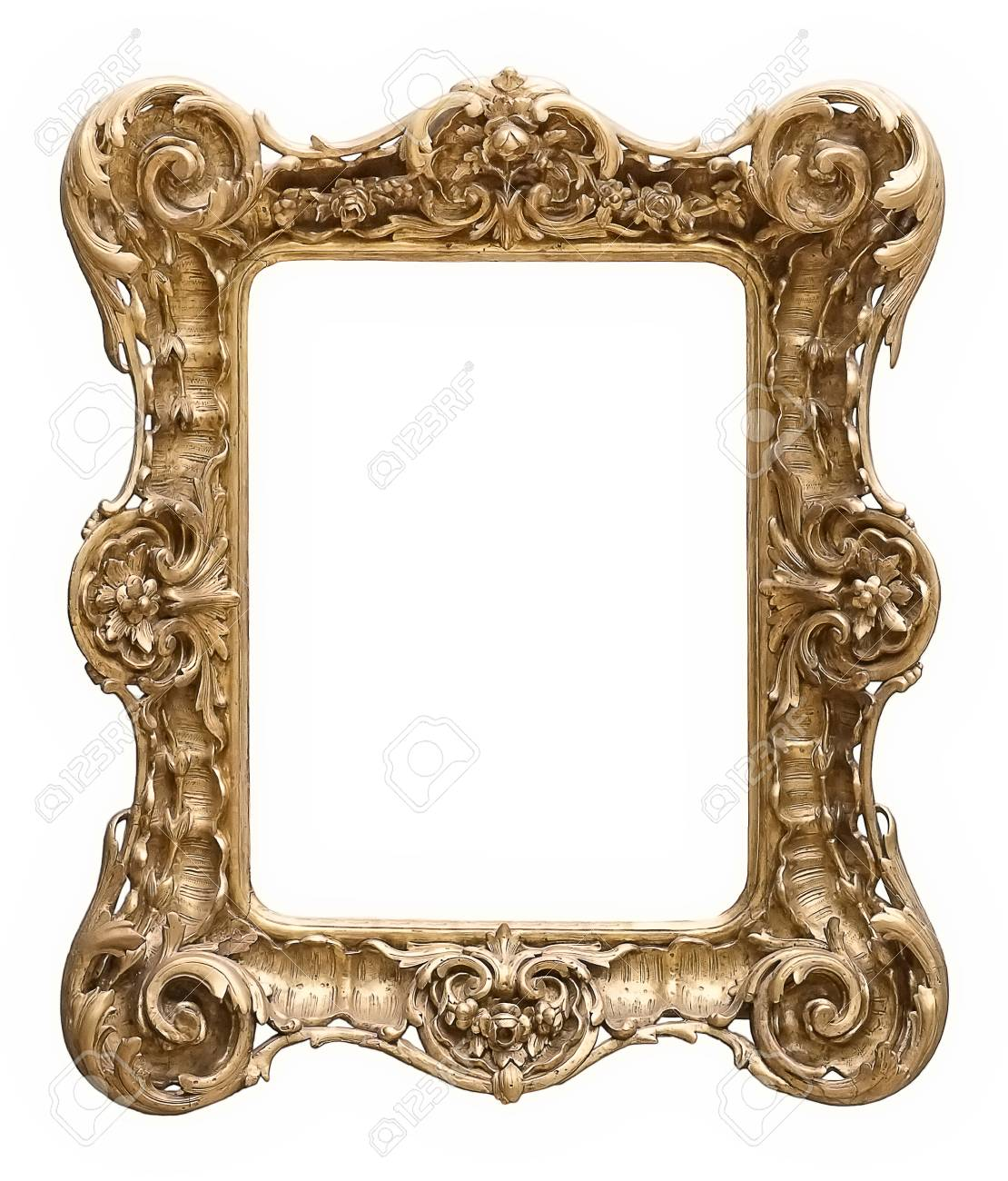 Gold Frame For Paintings, Mirrors Or Photos Stock Photo, Picture And ...
