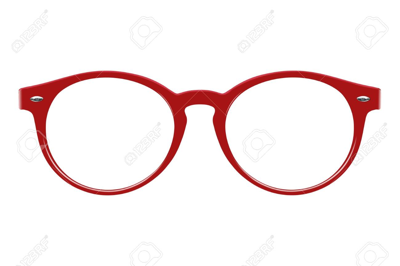 Glasses isolated on white background for applying on a portrait - 125536593