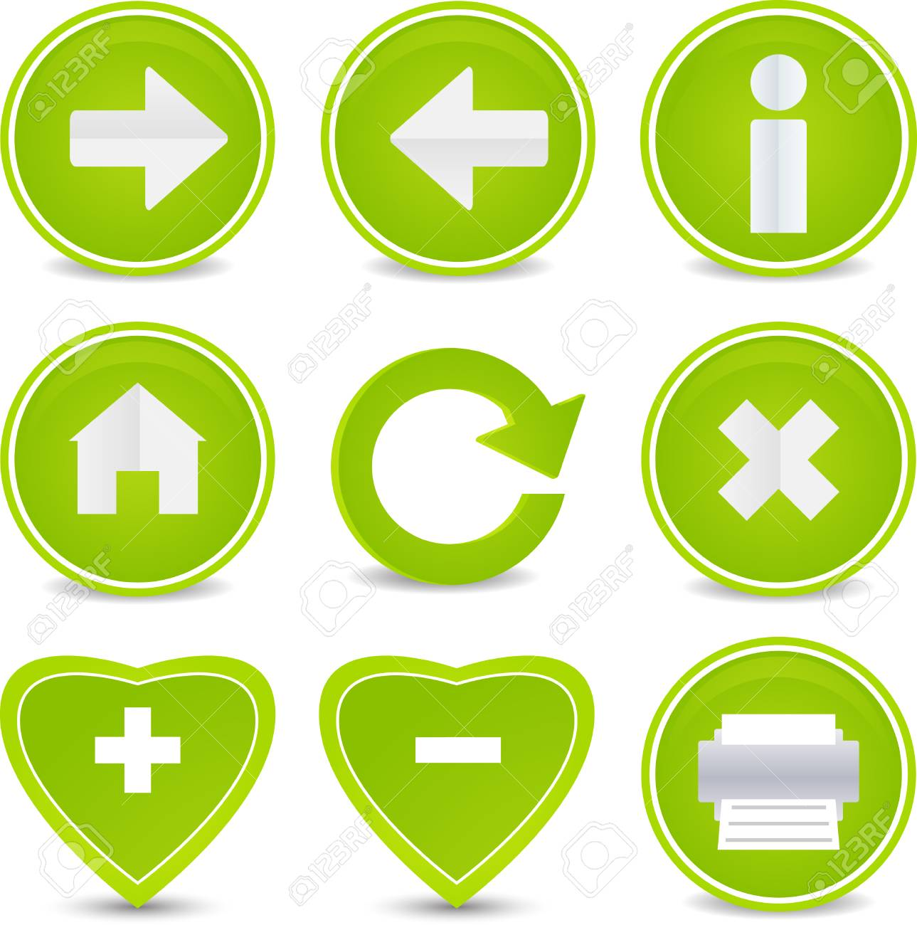 Website and Internet set of 9 icons Stock Vector - 5200501