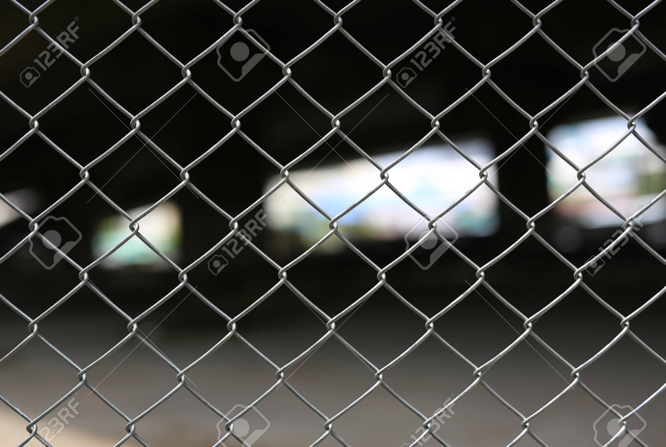 Steel Wire Mesh Fence Stock Photo, Picture And Royalty Free Image ...