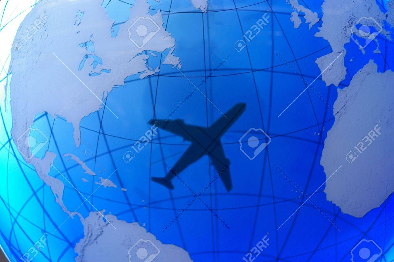 Airplane shadow over the earth Stock Photo - 330099