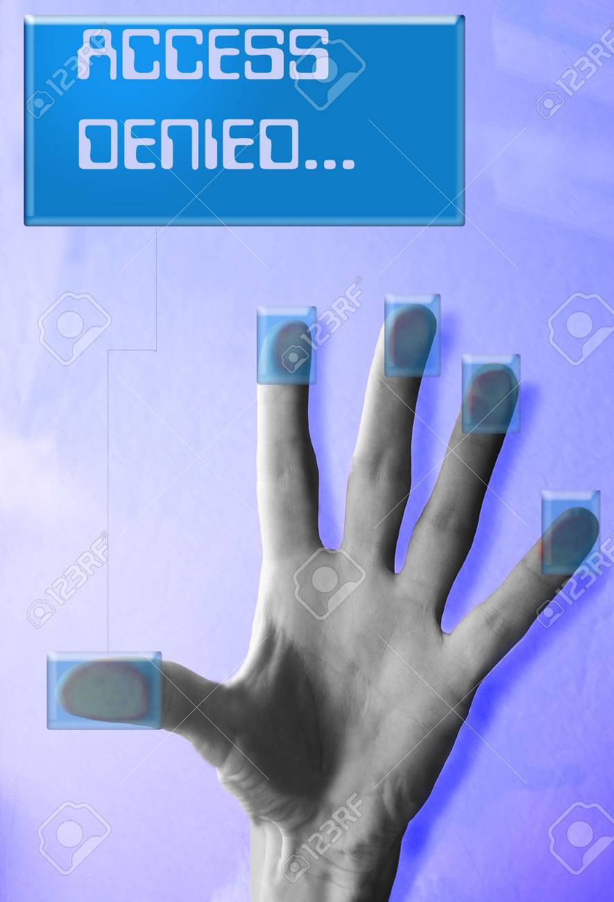 Cyber security(Access Denied message) Stock Photo - 330100