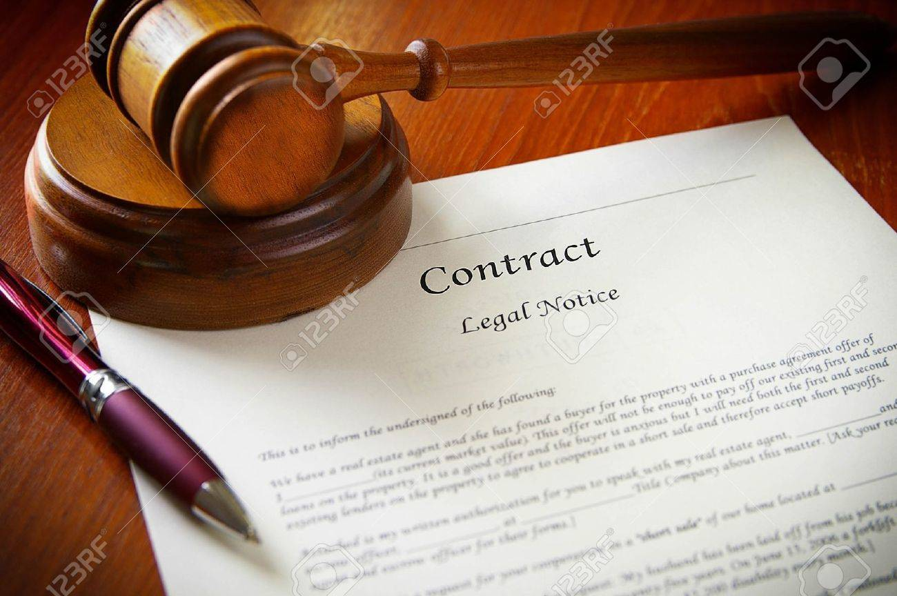 legal gavel and a business contract Stock Photo - 9383823