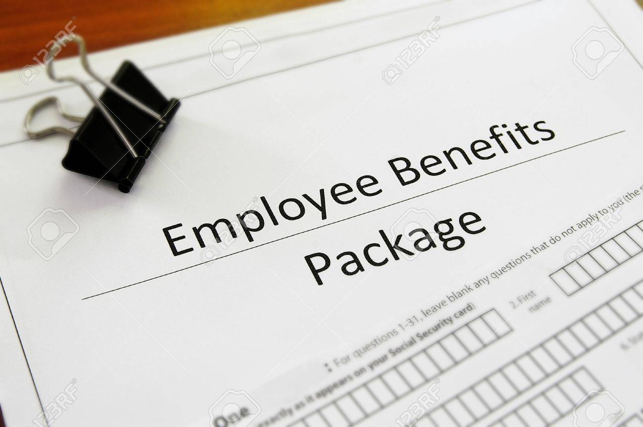 closeup of an employee benefit package stock photo picture and closeup of an employee benefit package stock photo 10843382